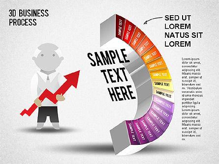 3D Business Stages Diagram, Slide 17, 01305, Business Models — PoweredTemplate.com