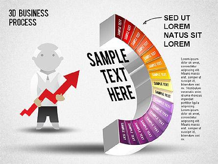 3D Business Stages Diagram, Slide 18, 01305, Business Models — PoweredTemplate.com