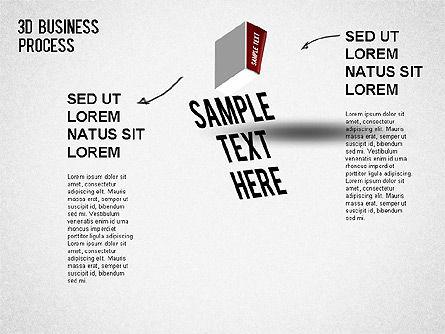 3D Business Stages Diagram, Slide 2, 01305, Business Models — PoweredTemplate.com
