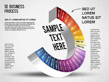 3D Business Stages Diagram, Slide 23, 01305, Business Models — PoweredTemplate.com