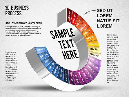 3D Business Stages Diagram, Slide 25, 01305, Business Models — PoweredTemplate.com