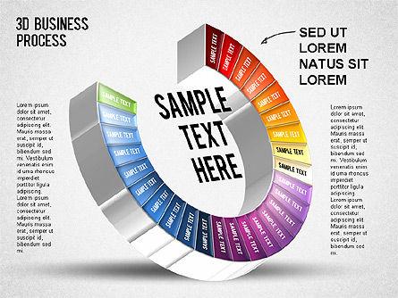3D Business Stages Diagram, Slide 28, 01305, Business Models — PoweredTemplate.com