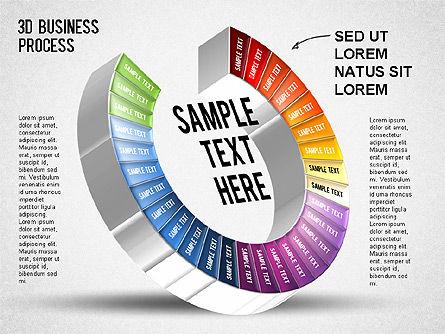 3D Business Stages Diagram, Slide 30, 01305, Business Models — PoweredTemplate.com