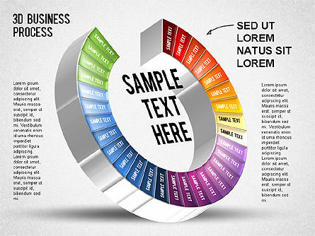 3D Business Stages Diagram, Slide 31, 01305, Business Models — PoweredTemplate.com
