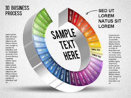 3D Business Stages Diagram, Slide 32, 01305, Business Models — PoweredTemplate.com