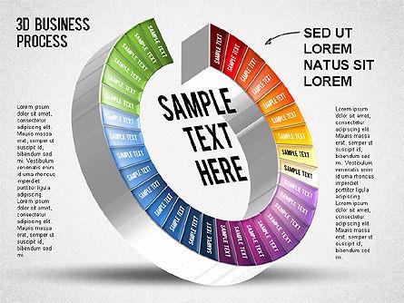 3D Business Stages Diagram, Slide 33, 01305, Business Models — PoweredTemplate.com