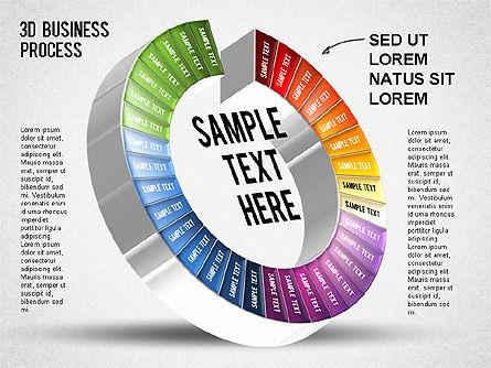3D Business Stages Diagram, Slide 34, 01305, Business Models — PoweredTemplate.com