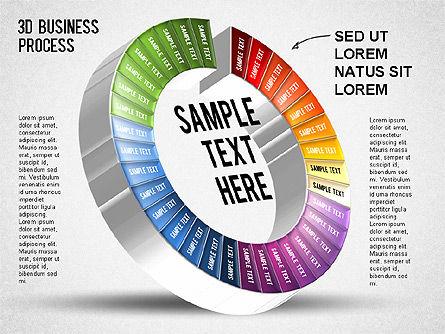 3D Business Stages Diagram, Slide 35, 01305, Business Models — PoweredTemplate.com