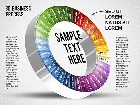 3D Business Stages Diagram, Slide 36, 01305, Business Models — PoweredTemplate.com