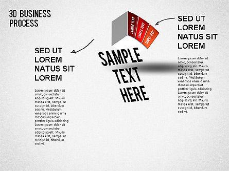 3D Business Stages Diagram, Slide 4, 01305, Business Models — PoweredTemplate.com