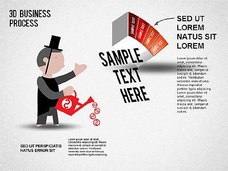 3D Business Stages Diagram, Slide 5, 01305, Business Models — PoweredTemplate.com