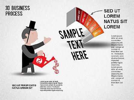 3D Business Stages Diagram, Slide 6, 01305, Business Models — PoweredTemplate.com