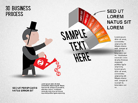 3D Business Stages Diagram, Slide 7, 01305, Business Models — PoweredTemplate.com