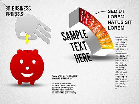 3D Business Stages Diagram, Slide 8, 01305, Business Models — PoweredTemplate.com