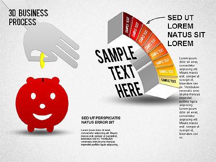 3D Business Stages Diagram, Slide 9, 01305, Business Models — PoweredTemplate.com