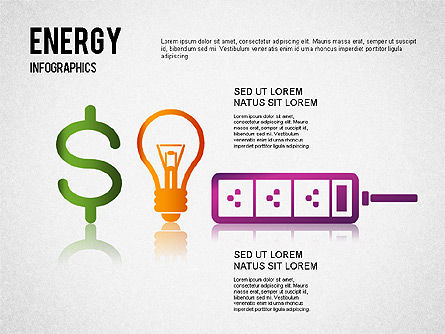 Energy Infographics for PowerPoint, Slide 3, 01306, Shapes — PoweredTemplate.com