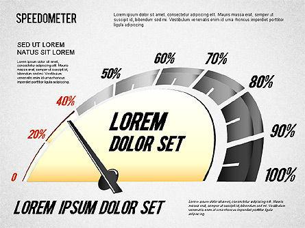 Speedometer Diagram, Slide 2, 01308, Stage Diagrams — PoweredTemplate.com