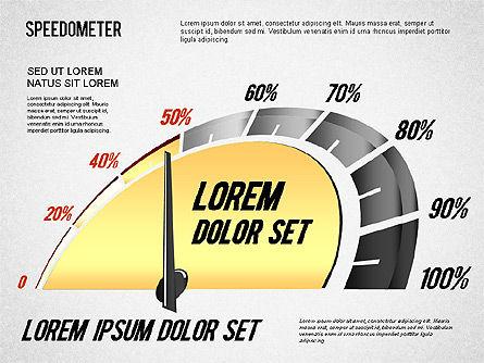 Speedometer Diagram, Slide 3, 01308, Stage Diagrams — PoweredTemplate.com