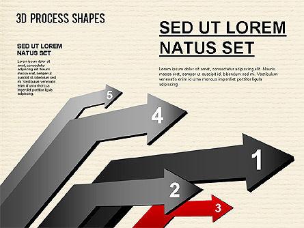 Arrow Stages Shapes, Slide 10, 01309, Shapes — PoweredTemplate.com