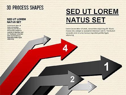 Arrow Stages Shapes, Slide 11, 01309, Shapes — PoweredTemplate.com