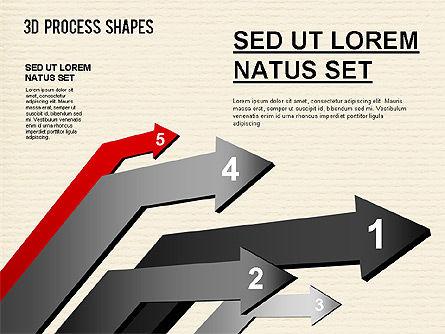 Arrow Stages Shapes, Slide 12, 01309, Shapes — PoweredTemplate.com