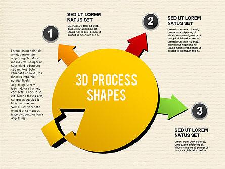 Arrow Stages Shapes, Slide 13, 01309, Shapes — PoweredTemplate.com
