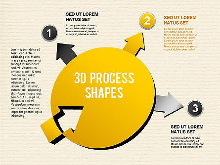 Arrow Stages Shapes, Slide 15, 01309, Shapes — PoweredTemplate.com