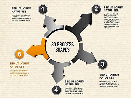 Arrow Stages Shapes, Slide 6, 01309, Shapes — PoweredTemplate.com