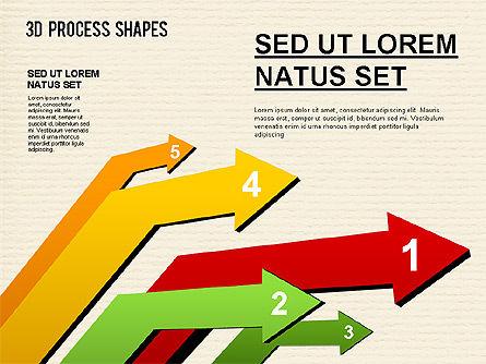 Arrow Stages Shapes, Slide 7, 01309, Shapes — PoweredTemplate.com