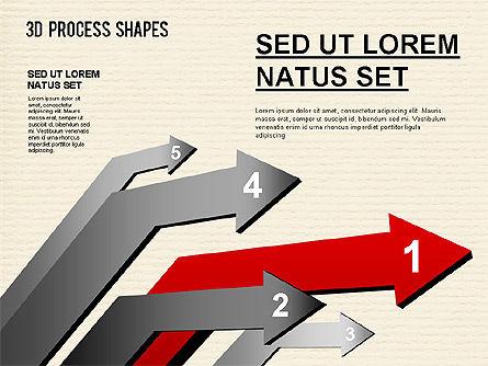 Arrow Stages Shapes, Slide 8, 01309, Shapes — PoweredTemplate.com