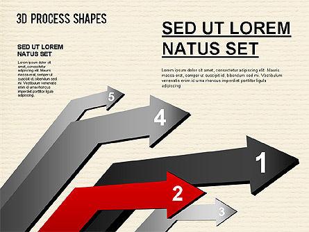 Arrow Stages Shapes, Slide 9, 01309, Shapes — PoweredTemplate.com