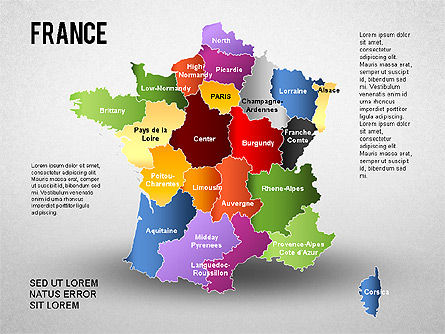 France Presentation Diagram, 01313, Presentation Templates — PoweredTemplate.com