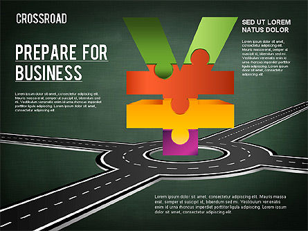 Currency Crossroad Diagram, Slide 20, 01319, Business Models — PoweredTemplate.com