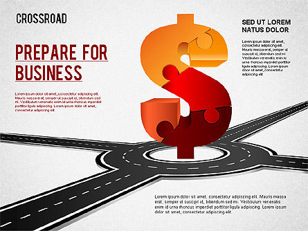 Currency Crossroad Diagram, Slide 5, 01319, Business Models — PoweredTemplate.com