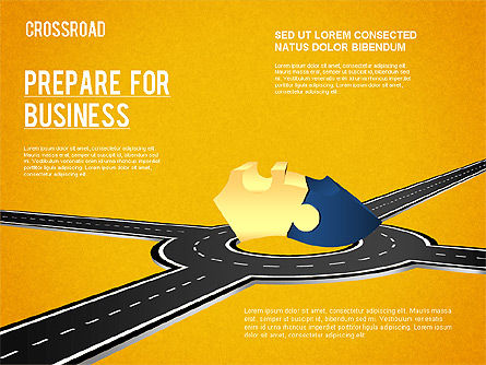 Currency Crossroad Diagram, Slide 7, 01319, Business Models — PoweredTemplate.com