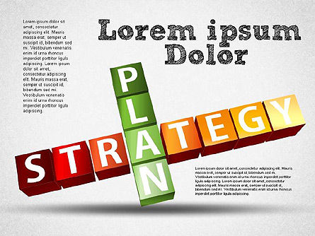 Strategy and Planning Crossword, Slide 3, 01324, Stage Diagrams — PoweredTemplate.com