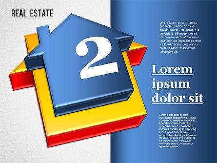 Real Estate Puzzle Diagram, Slide 2, 01325, Business Models — PoweredTemplate.com