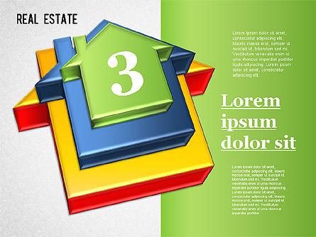 Real Estate Puzzle Diagram, Slide 3, 01325, Business Models — PoweredTemplate.com