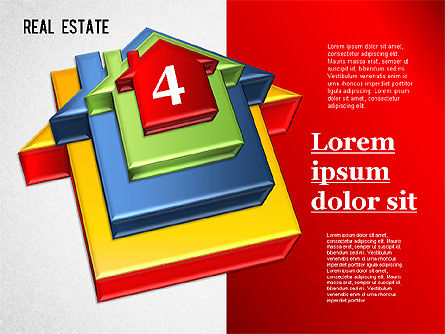 Real Estate Puzzle Diagram, Slide 4, 01325, Business Models — PoweredTemplate.com