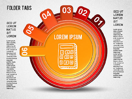 Folder Tabs Shapes, Slide 6, 01328, Stage Diagrams — PoweredTemplate.com
