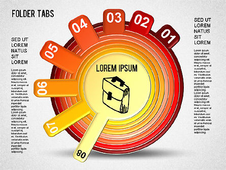 Folder Tabs Shapes, Slide 8, 01328, Stage Diagrams — PoweredTemplate.com