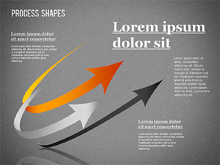 Colored Curved Arrows, Slide 12, 01329, Shapes — PoweredTemplate.com