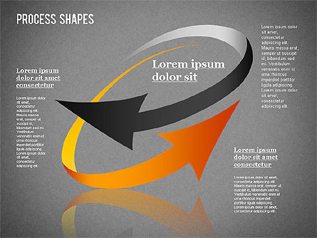 Colored Curved Arrows, Slide 13, 01329, Shapes — PoweredTemplate.com
