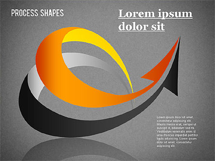 Colored Curved Arrows, Slide 14, 01329, Shapes — PoweredTemplate.com
