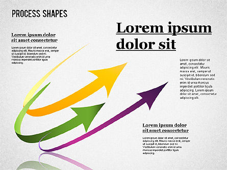 Colored Curved Arrows, Slide 2, 01329, Shapes — PoweredTemplate.com