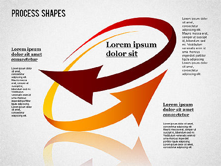 Colored Curved Arrows, Slide 3, 01329, Shapes — PoweredTemplate.com