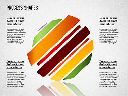 Colored Curved Arrows, Slide 5, 01329, Shapes — PoweredTemplate.com