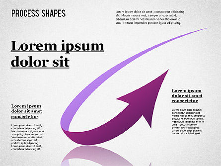 Colored Curved Arrows, Slide 9, 01329, Shapes — PoweredTemplate.com