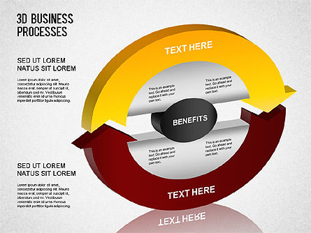 3D Business Process Diagram, Slide 2, 01331, Process Diagrams — PoweredTemplate.com