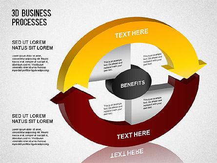 3D Business Process Diagram, Slide 3, 01331, Process Diagrams — PoweredTemplate.com